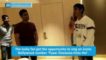 Watch: Fan impresses MS Dhoni with iconic Bollywood song