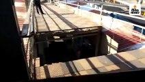 पुराने स्टेशन पर फुटओवर ब्रिज के स्लोप का एक हिस्सा ढहा