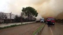 Pamuk yağı fabrikasındaki yangın soğutma çalışmaları sırasında yeniden başladı (2)