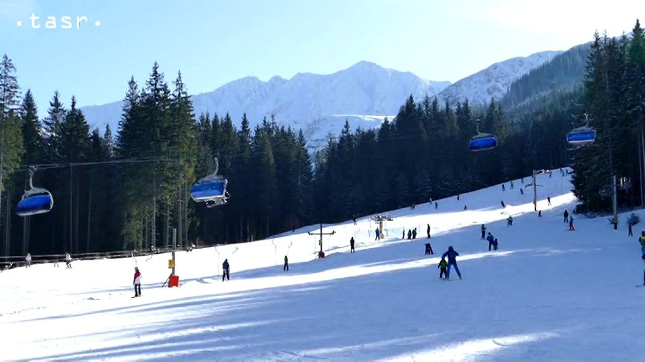 Lyžovačka v lyžiarskom stredisku Roháče- Spálená