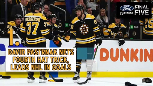 Ford Final Five: David Pastrnak Reaches 40 Goals In A Season For First Time