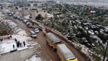 - İdlib'den Türkiye sınırına doğru göç ediyorlar- Rejim bombardımanından kaçan siviller Afrin'e göç ediyor