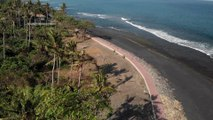 Beach shore at Indonesia