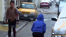 Inusual nevada cayo en la capital de Iraq, Bagdad  La ultima nevada en esta capital fue en el 2008