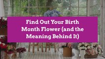 Find Out Your Birth Month Flower (and the Meaning Behind It)