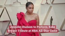 Jennifer Hudson At The NBA All-Star Game