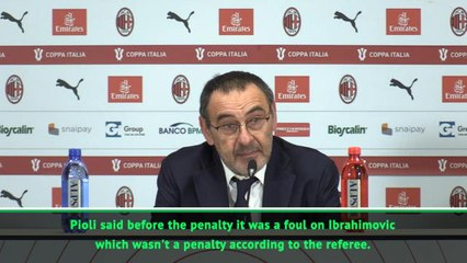 Sarri insists controversial handball was 'clear' penalty