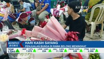 Valentine Jadi Sumber Rejeki bagi Penjual Bunga