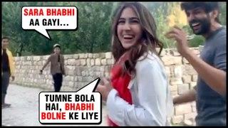 Kartik Aryan Makes Fans Call Sara Ali Khan As