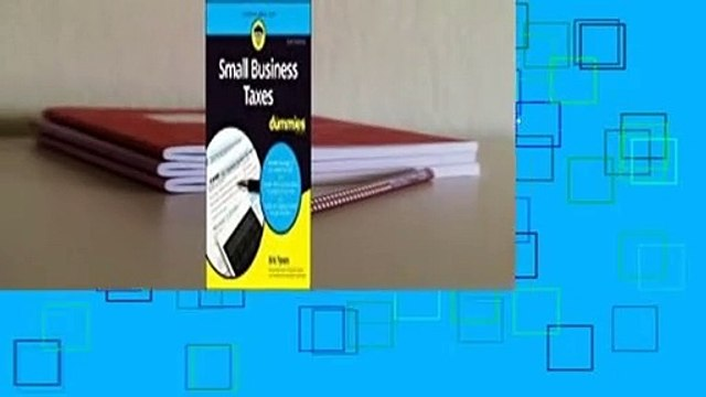 Full E-book  Small Business Taxes For Dummies  For Online