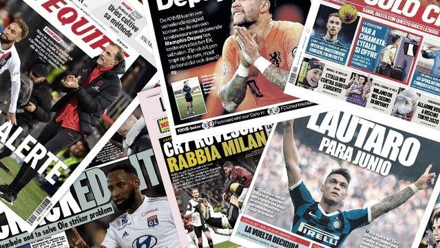 Cristiano Ronaldo fait les gros titres en Italie, Manchester United mise tout sur Moussa Dembélé