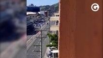 Avenida Leitão da Silva interditada após tiros e quebradeira