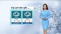 [날씨]주말 날씨 변화 심해…내일 밤 중부·호남 비