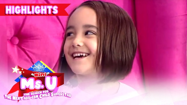 Billy laughs hard because of Mini Miss U candidate's answer | It's Showtime Mini Miss U