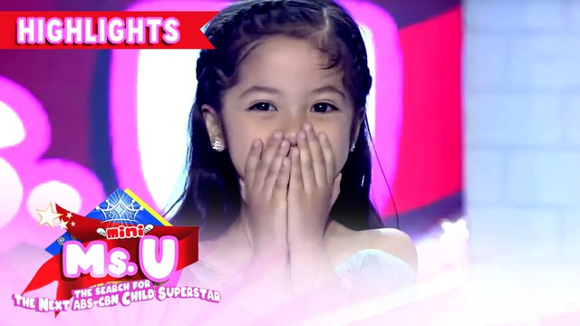 Eireen Ello wins as Mini Miss U of the day | It's Showtime Mini Miss U