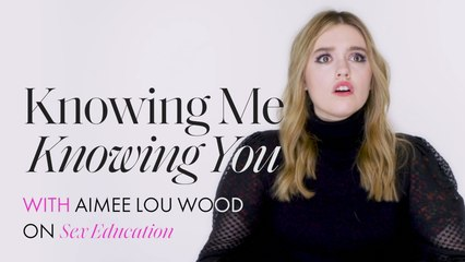 Aimee Lou Wood from Sex Education plays Knowing Me Knowing You