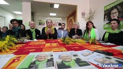 Avignon : l'ex-ministre Delphine Batho vient soutenir la liste des écologistes pour les municipales