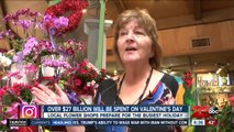 Over $27 billion will be spent on Valentine's Day flowers