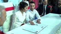 İstanbul ümraniye'de 14 şubat'ta 14 çift nikah sevinci yaşadı