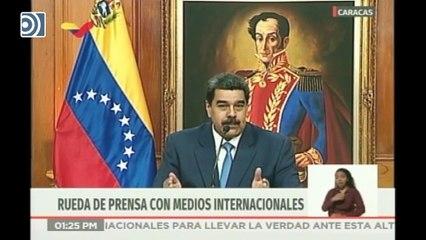 """Maduro dice que lo hablado entre Delcy Rodríguez y José Luis Ábalos es """"secreto"""""""