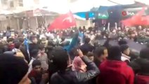 İdlib'te Türk askerine destek gösterisi