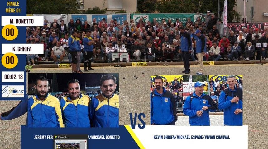 Finale M. BONETTO vs K. GHRIFA International à pétanque de l'Olivier 2019 à Nyons