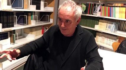 Entrevista a Ferran Adrià tras la presentación del primer volumen de la Bullipedia: PALEOLÍTICO Y NEOLÍTICO. LOS ORÍGENES DE LA COCINA.