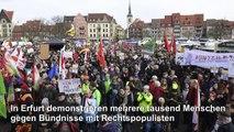 """""""Kein Pakt mit Faschisten"""": Großdemonstration in Erfurt"""