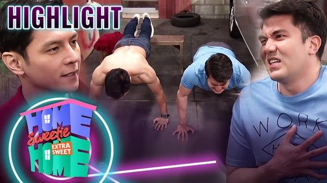 Pip and Dan's push-up showdown | HSH Extra Sweet