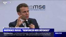 """Ingérence russe: Emmanuel Macron appelle à """"renforcer nos défenses technologiques"""""""