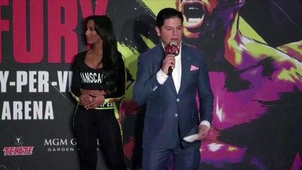 Fury believes Wilder rematch is 'biggest fight of last 50 years' as boxers arrive in Las Vegas