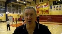 Le coach Jacky Bichard après la victoire de Martigues Sport Basket contre Dijon