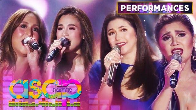 Jolina, Toni, Regine and Vina perform love songs medley   ASAP Natin 'To