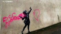 Un nouveau Banksy réalisé à Bristol pour la Saint-Valentin vandalisé