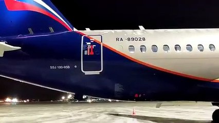 Sukhoi Superjet Fails Check for Emergency Inflatable Gangway Release
