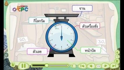 สื่อการเรียนการสอน การชั่ง และการอ่านน้ำหนักจากเครื่องชั่ง ป.3 คณิตศาสตร์