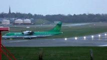 Atterrissage d'avions dans la tempête Ciara !