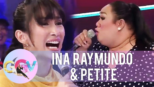 Ina Raymundo and Petite reenact a scene from Kadenang Ginto | GGV