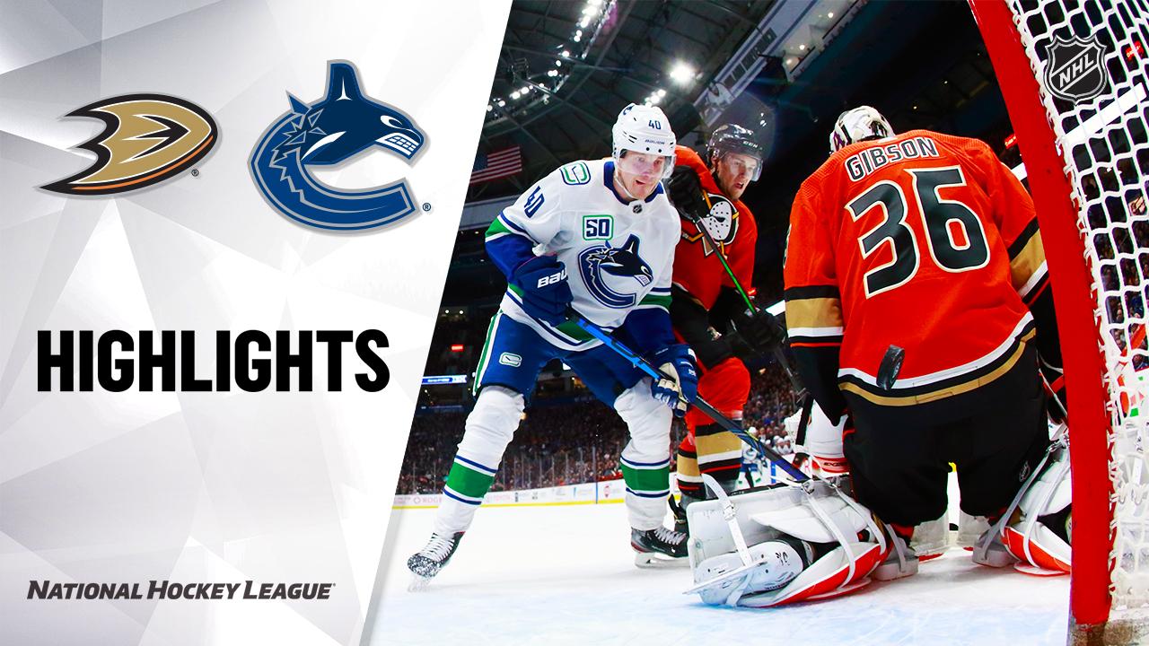 NHL Highlights   Ducks @ Canucks 2/16/20