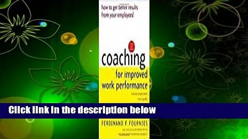 About For Books  Coaching for Improved Work Performance  For Free