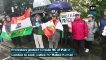 Protest held outside Pak High Commission in London to seek justice for Mehak Kumari