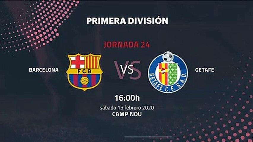 Previa partido entre Barcelona y Getafe Jornada 24 Primera División