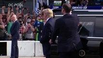Trump fait un tour de piste à bord de sa Cadillac blindée à Daytona