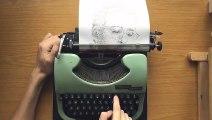 Cet artiste autiste dessine un portrait à la machine à écrire !