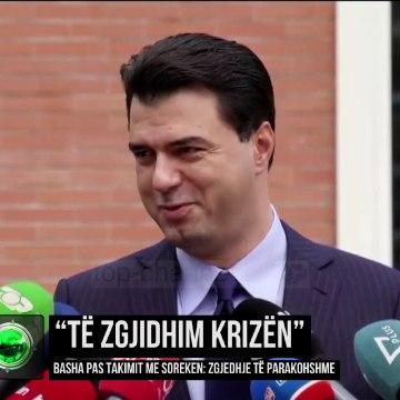"""""""Të zgjidhim krizën""""/ Basha pas takimit me Sorekën: Zgjedhje të parakohshme"""