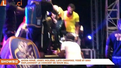 Aicha Koné, Josey, Molière, Lato Crespino, Yodé et Siro enflamment le concert de Soum Bill