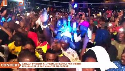 Concert-Abidjan by Night #6 - Tiken Jah Fakoly fait vibrer le public et le fait chanter en choeur