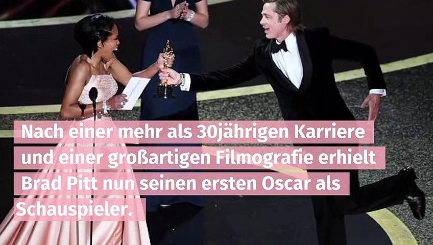 Brad Pitt gewinnt seinen ersten Oscar als Schauspieler