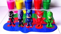 pjmasks Wrong Heads, Learn Colors with Pj Masks Painting Oddbods Beads Surprise Toys