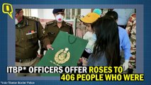 Coronavirus: ITBP Offer Roses to People Being Released From Quarantine